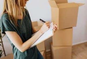 Faire l'inventaire avant le déménagement
